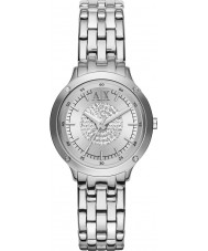 Armani Exchange AX5415 Ladies Stone Set Silver Bracelet Dress Watch