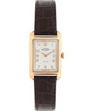 Rotary LS02699-01 Ladies Timepieces Portland Vintage Look Brown Leather Strap Watch
