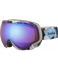 Bolle 21304 Emperor Grey and Blue Argyle - Aurora Ski Goggles