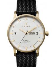 Triwa KLST103-GC010113 Ivory Klinga Black Leather Strap Watch