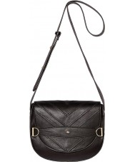 Nica NH6118-BLACK Ladies Mila Black Snap Saddle Cross Body Bag