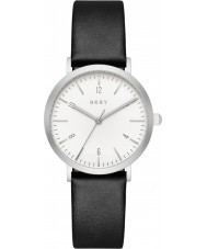 DKNY NY2506 Ladies Minetta Black Leather Strap Watch