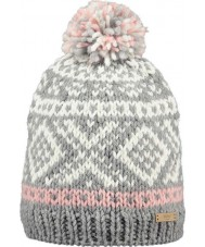 Barts 11050021 Ladies Log Cabin Heather Grey Beanie