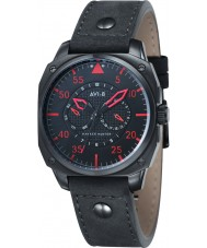 AVI-8 AV-4009-03 Mens Hawker Hunter Black Leather Strap Watch