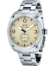 AVI-8 AV-4026-12 Mens Hawker Harrier II Silver Steel Bracelet Watch