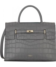 Fiorelli FH8639-GREYCROC Ladies Harlow City Grey Croc Mix Tote Bag