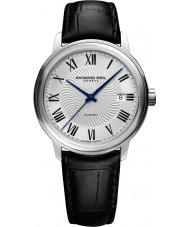 Raymond Weil 2237-STC-00659 Mens Maestro Black Leather Strap Watch