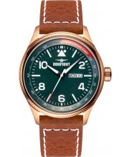Dogfight DF0070 Mens Wingman Brown Leather Strap Watch