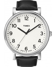 Timex T2N338 Mens White Black Classic Round Watch
