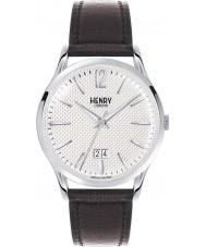 Henry London HL41-JS-0021 Mens Edgware Black Leather Strap Watch