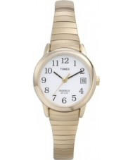 Timex T2H351 Ladies White Gold Easy Reader Watch