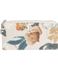 Fiorelli FS0863-PRINT Ladies Lara White Botanical Print Zip Around Purse