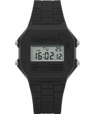 Superdry SYG201E Mens Retro Digi Grey Silicone Strap Watch