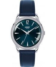 Henry London HL39-SS-0033 Ladies Knightsbridge Blue Watch with Swarovski Elements