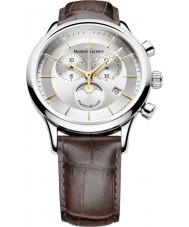 Maurice Lacroix LC1148-SS001-132 Mens Les Classiques Two Tone metal and Brown Phases de Lune Watch