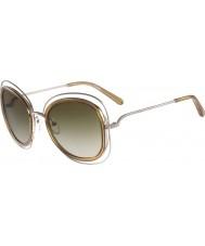 Chloe Ladies CE123S Carlina Shiny Gold Sunglasses