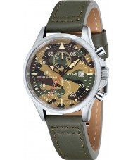 AVI-8 AV-4013-08 Mens Hawker Hurricane Army Green Leather Strap Chronograph Watch