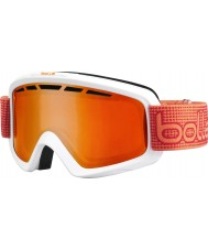 Bolle 21076 Nova II Matte White and Orange - Fire Orange Ski Goggles