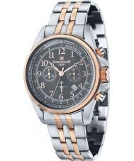 Thomas Earnshaw ES-8028-66 Mens Commodore Two Tone Steel Chronograph Watch
