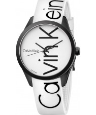 Calvin Klein K5E51TK2 Color White Silicone Strap Watch
