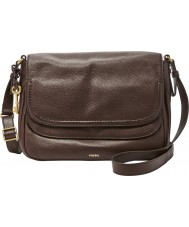 Fossil ZB6841603 Ladies Peyton Cordovan Large Double Flap Bag