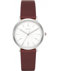 DKNY NY2508 Ladies Minetta Burgundy Leather Strap Watch