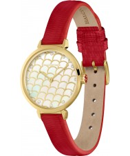 Halcyon Days HD2024 Ladies Salamander Sparkle Red Leather Strap Watch