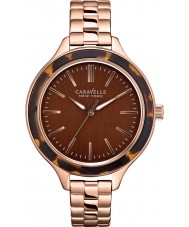 Caravelle New York 44L128 Ladies Carla Rose Gold Steel Bracelet Watch