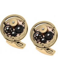 Thomas Earnshaw ES-002-C2 Mens Gear Gold Plated Cufflinks