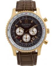 Krug Baümen 600213DS Mens Air Traveller Diamond Watch