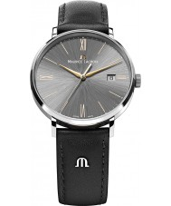 Maurice Lacroix EL1087-SS001-811 Mens Eliros Grey and Rose gold Black Leather Strap Watch