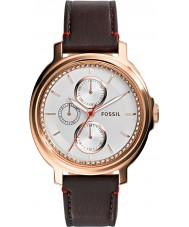 Fossil ES3594 Ladies Chelsey Brown Leather Strap Watch
