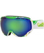 Bolle 21141 Emperor White and Lime - Green Emerald Ski Goggles
