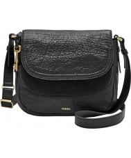 Fossil ZB6918001 Ladies Peyton Black Double Flap Bag