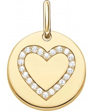 Thomas Sabo LBPE0005-414-14 Ladies Love Bridge 18ct Yellow Gold Plated Pendant