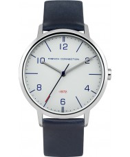 French Connection FC1277U Mens Blue Leather Strap Watch