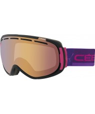 Cebe CBG124 Feel In Black and Pink - Light Rose Flash Gold Ski Goggles