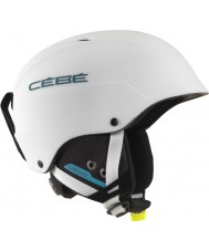 Cebe CBH174 Contest Matte White Blue Ski Helmet - 62-64cm