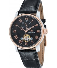 Thomas Earnshaw ES-8042-04 Mens Westminster Black Croco Leather Strap Watch