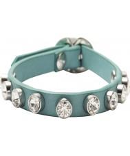 Fossil JA5869040 Ladies Aqua Glitz Stud Wrist Wrap Bracelet