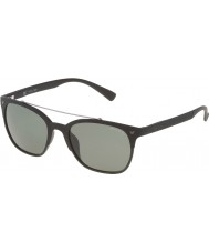 Police Mens Game 5 SPL161-U28P Semi Matt Black Polarized Sunglasses