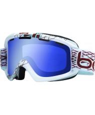 Bolle 20954 Nova White Diamond - Aurora Blue Ski Goggles