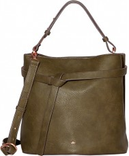 Nica NH6133-GREEN Ladies Corina Khaki Snap Grab Bag