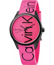 Calvin Klein K5E51TZP Color Pink Silicone Strap Watch