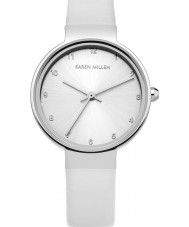 Karen Millen KM131W Ladies White Leather Strap Watch