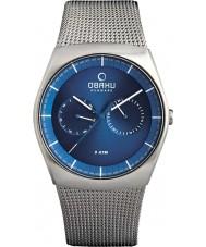 Obaku V176GMCLMC Mens Silver Steel Mesh Bracelet Watch