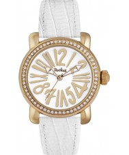 Pocket PK2020 Ladies Rond Crystal Medio White Watch