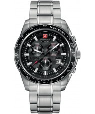 Swiss Military 6-5225-04-007 Mens Crusader Black Silver Chronograph Watch