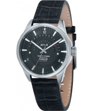 AVI-8 AV-4027-02 Mens Hawker Typhoon Black Leather Strap Watch