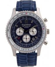 Krug Baümen 600507DS Mens Air Traveller Diamond Watch